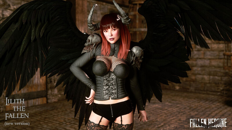 The Fallen Heroine -  Lilith the Succubus (two versions)