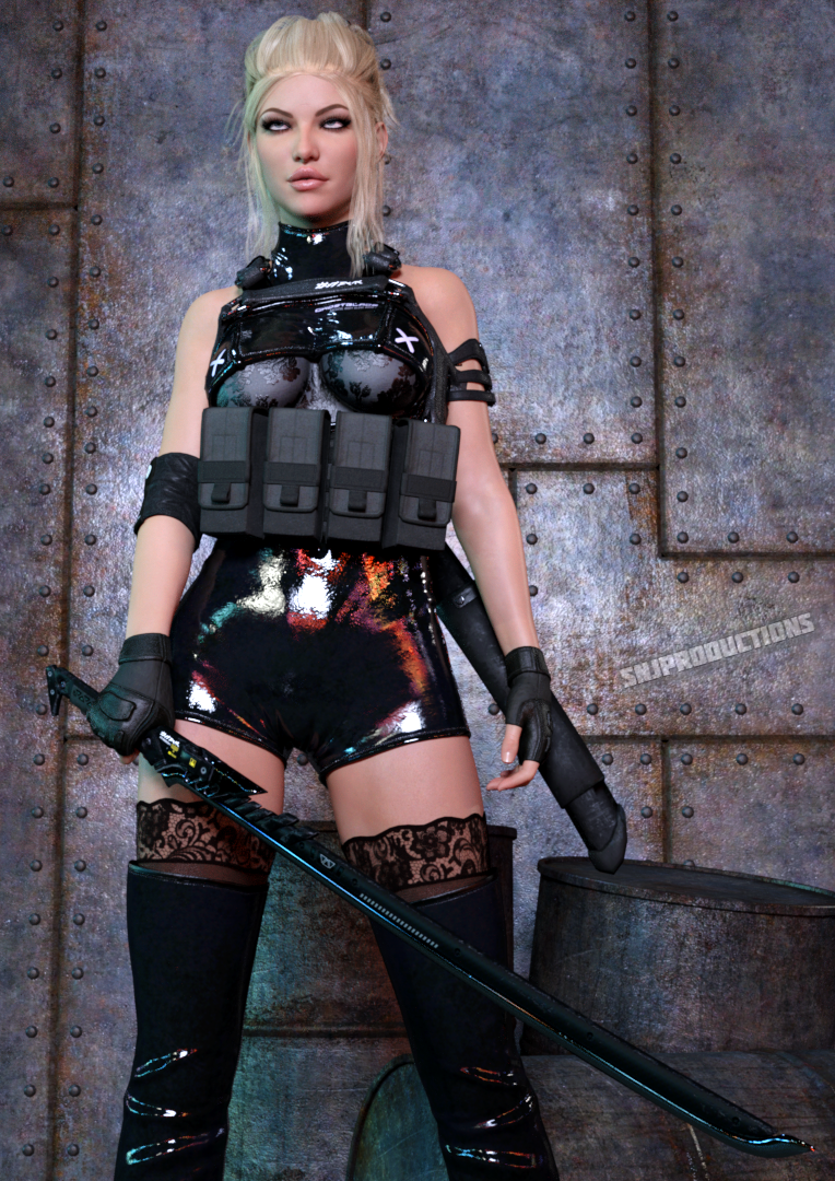 Even in battle gear, Alisha will always find a way to wear lace...