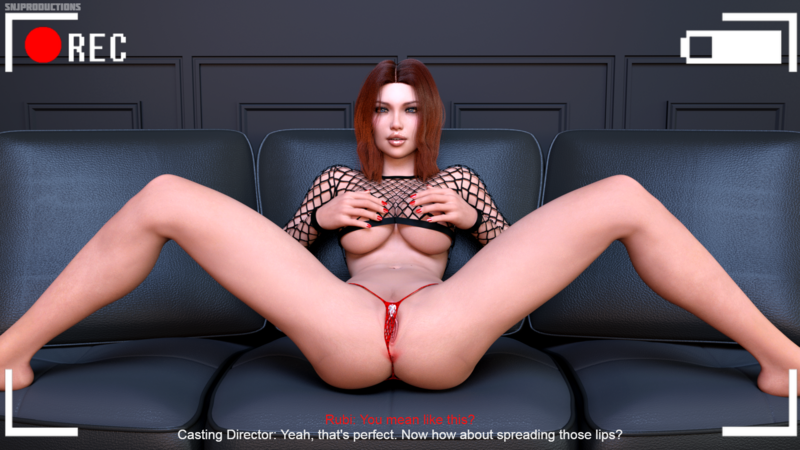 At Least Rubi Knew What To Expected Her First Time On A Casting Couch... (4 Image Set)