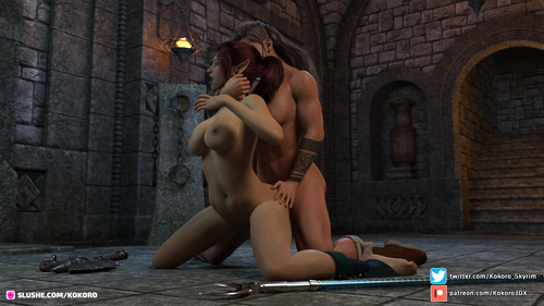Taeriel & the futa barbarian
