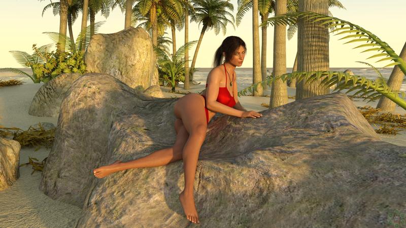 Lara on Island