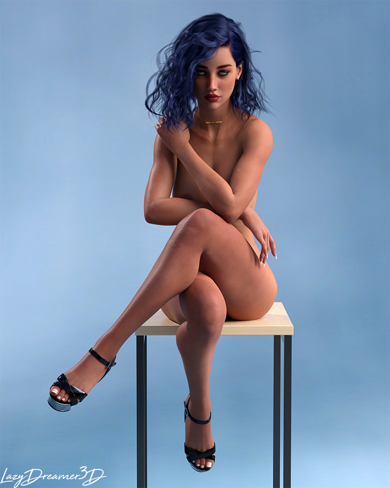 Pin-up blue 3