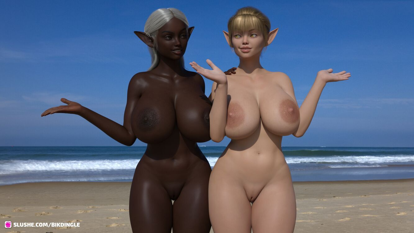 Soleil and Lune at the beach