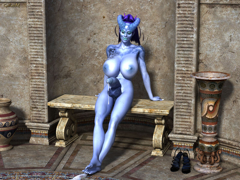 The Blue Tiefling