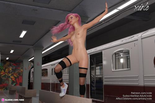 Piper at the subway