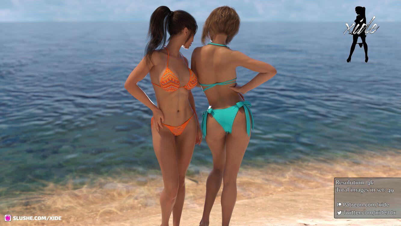 Evelynn and Dahlia - Fun at the beach