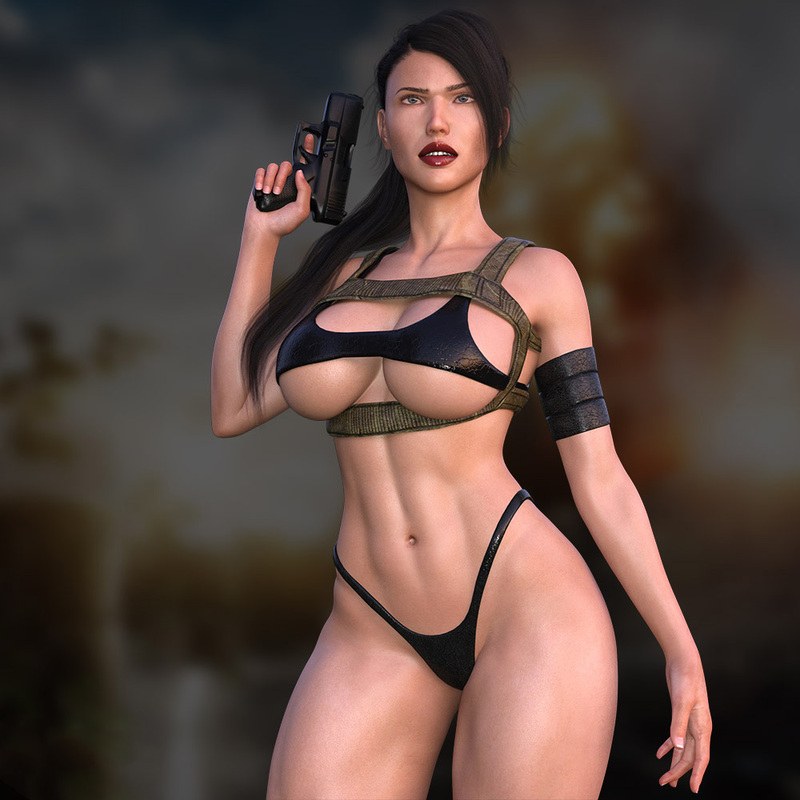 Soldier Lara Croft
