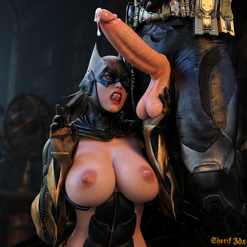 BatGirl & BatMan - Sex Pose