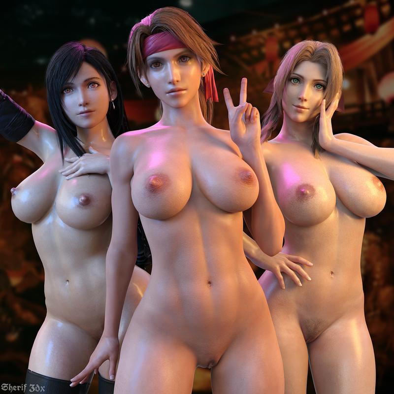 Tifa & Aerith & Jessie - Final Fantasy