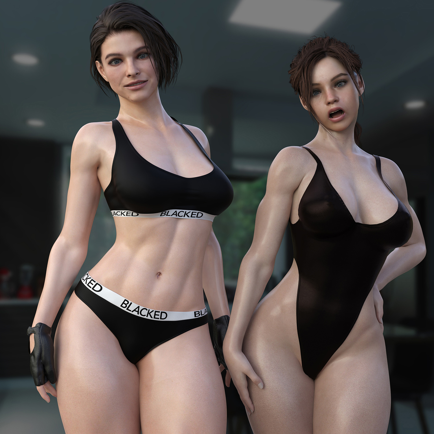 Jill & Claire - Blacked