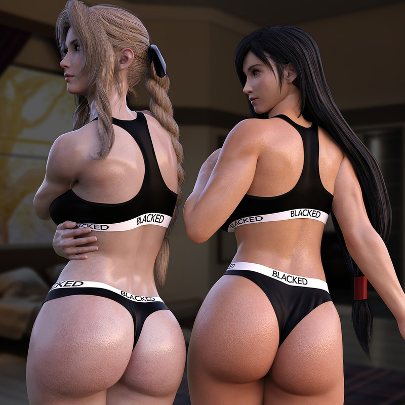 Tifa & Aerith - Blacked (Final Fantasy)