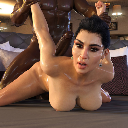 Kim Kardashian - Interracial