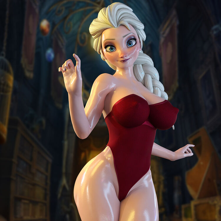 Elsa - Frozen (Red Dress)