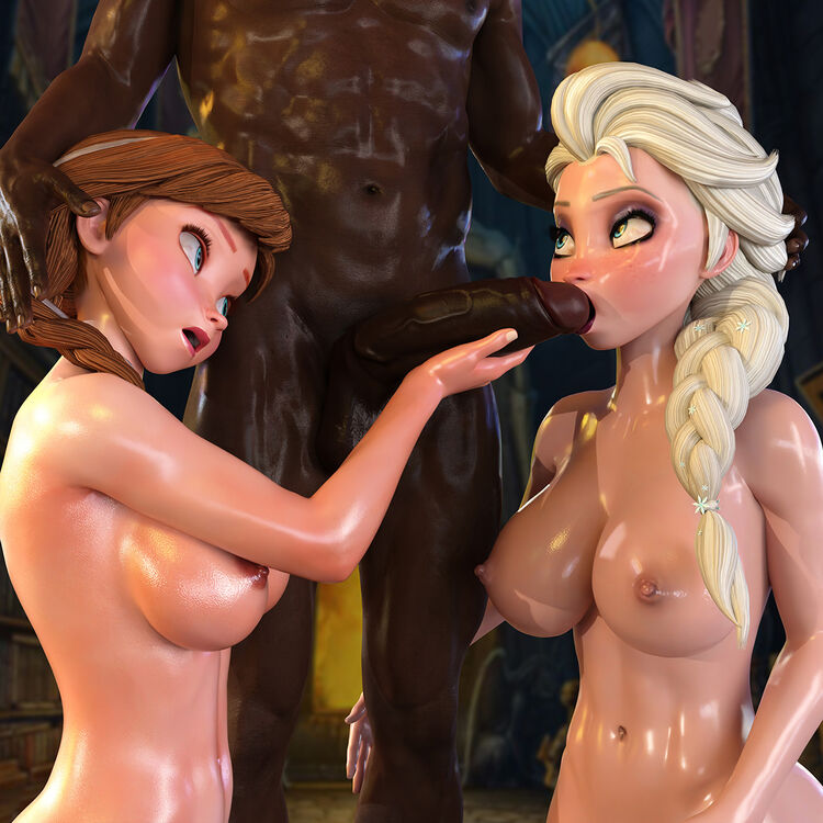 Elsa & Anna - Frozen (Interracial)