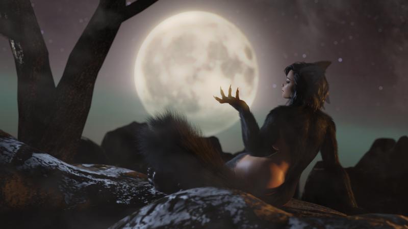 Introducing Lynn, the Half-Wolf