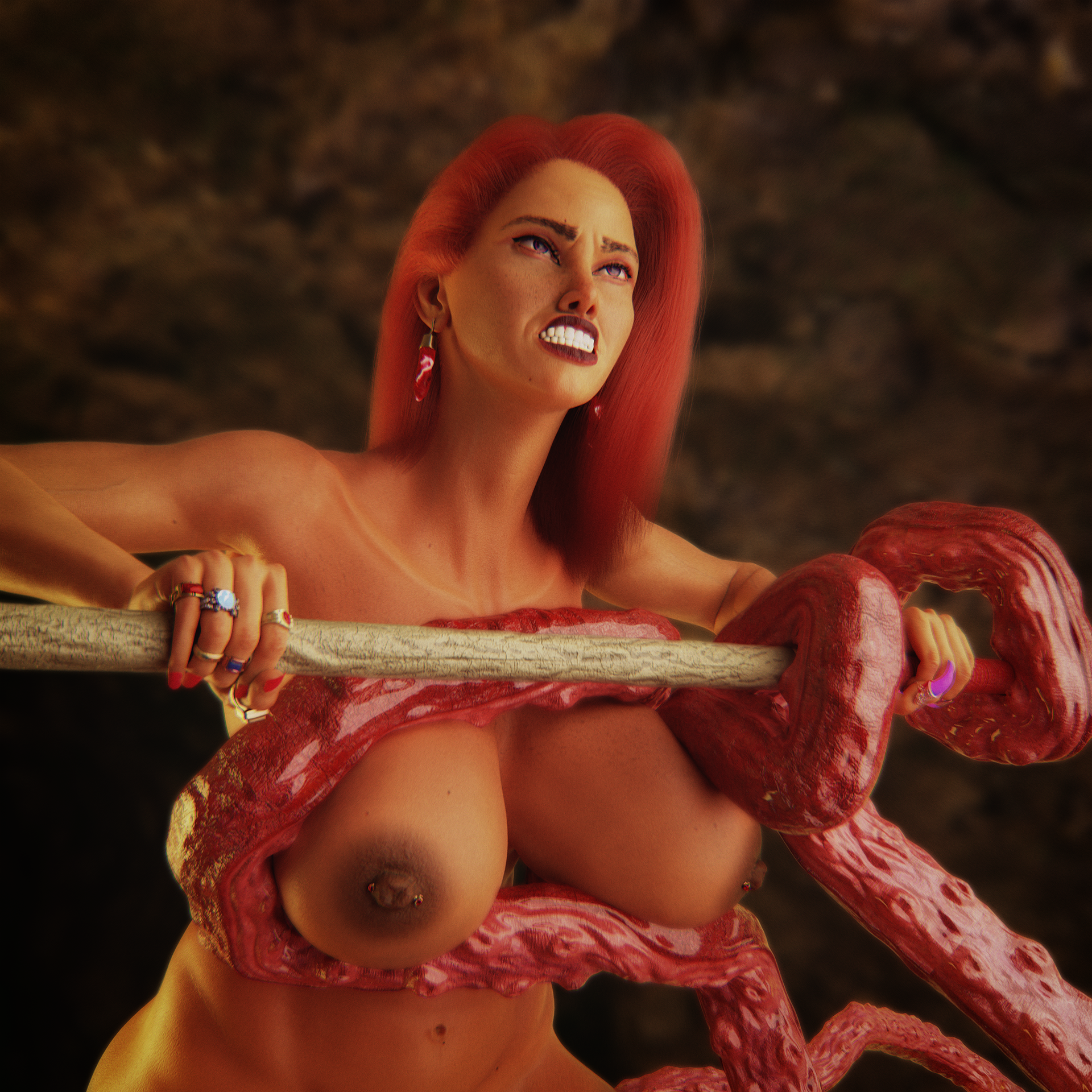 Bri and Tentacle Monster 2