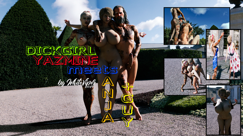 Dickgirl Yazmine meets Anja - NOW Available