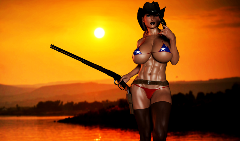 American Cowgirl Sunset