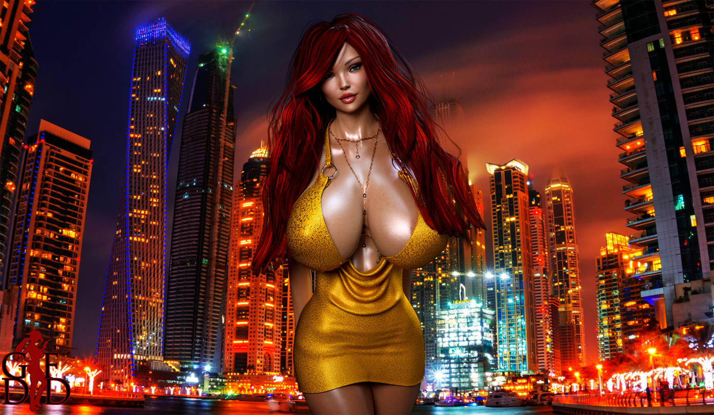 Ginger - Night on the Town Wallpaper (Full Resolution Image Available at Patreon)
