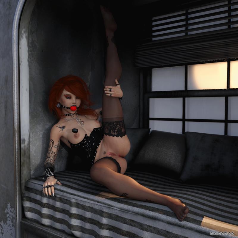 Rebekah in the window