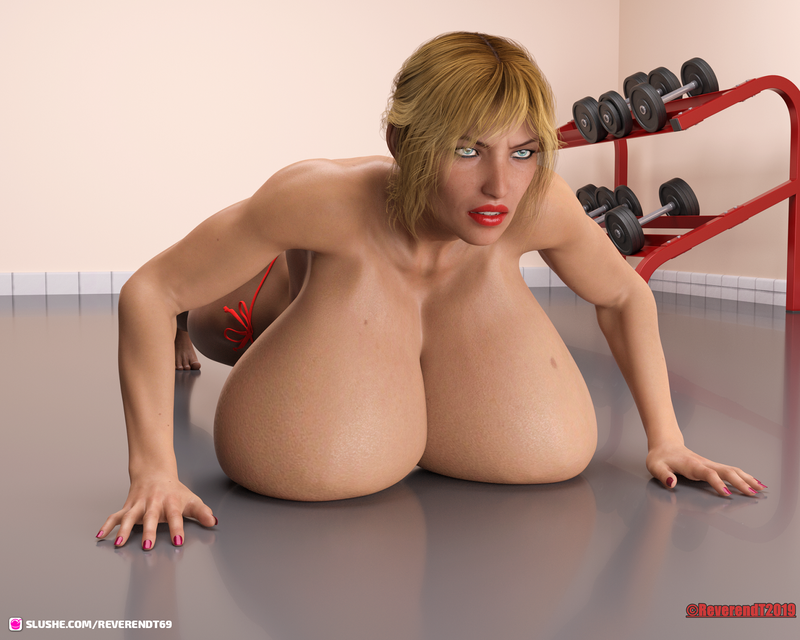 Breast assisted push ups.