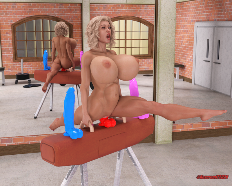 Training for the bimbo Olympics.