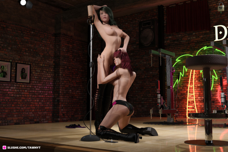 Conny and Sara in the Bondage Show 01