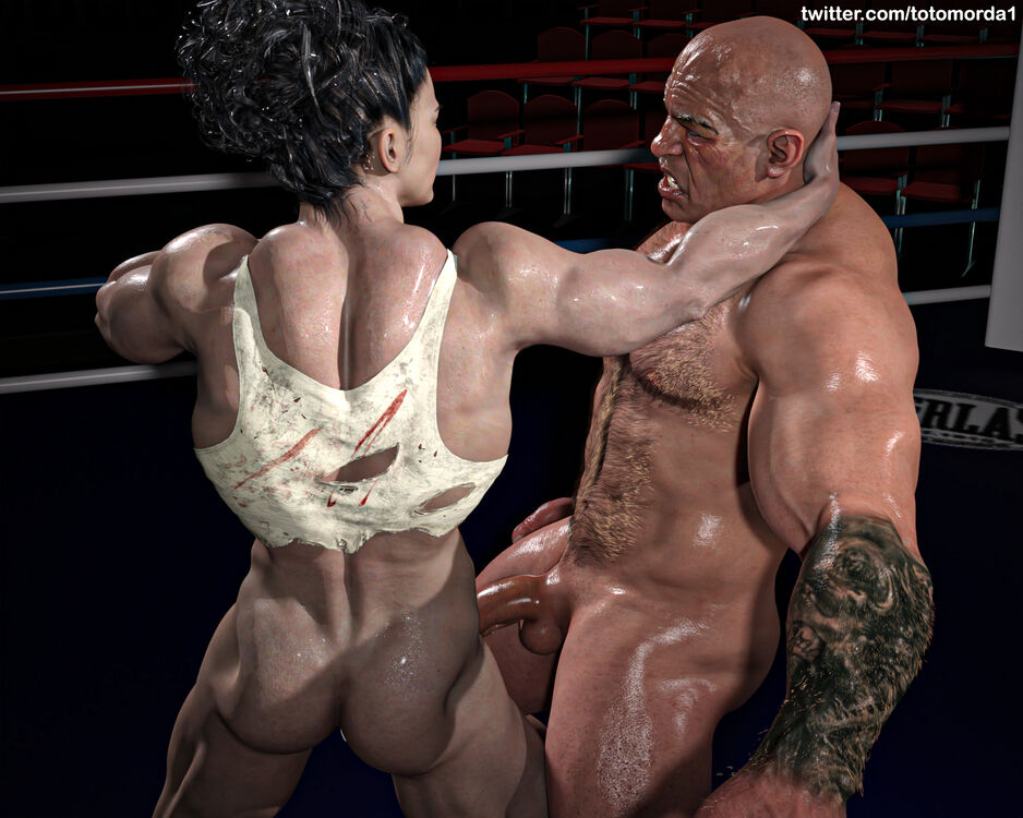 Mixed Wrestling - She Will Destroy His Face