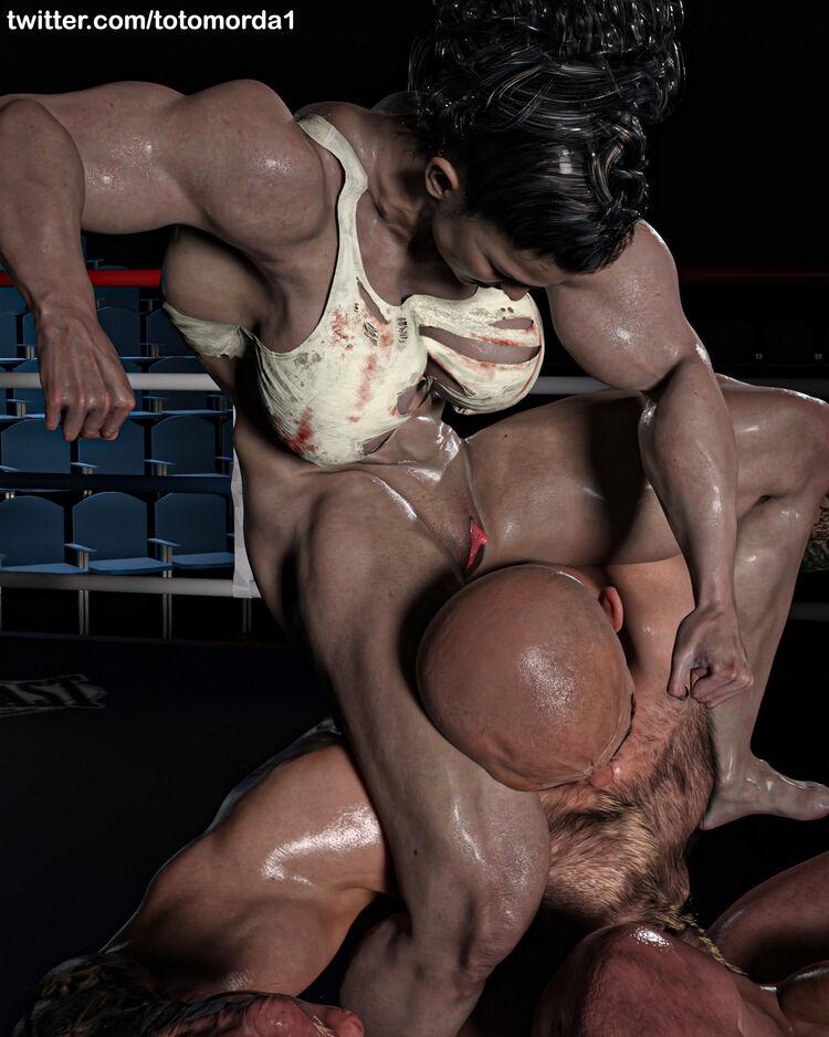 Mixed Wrestling - Big Clit