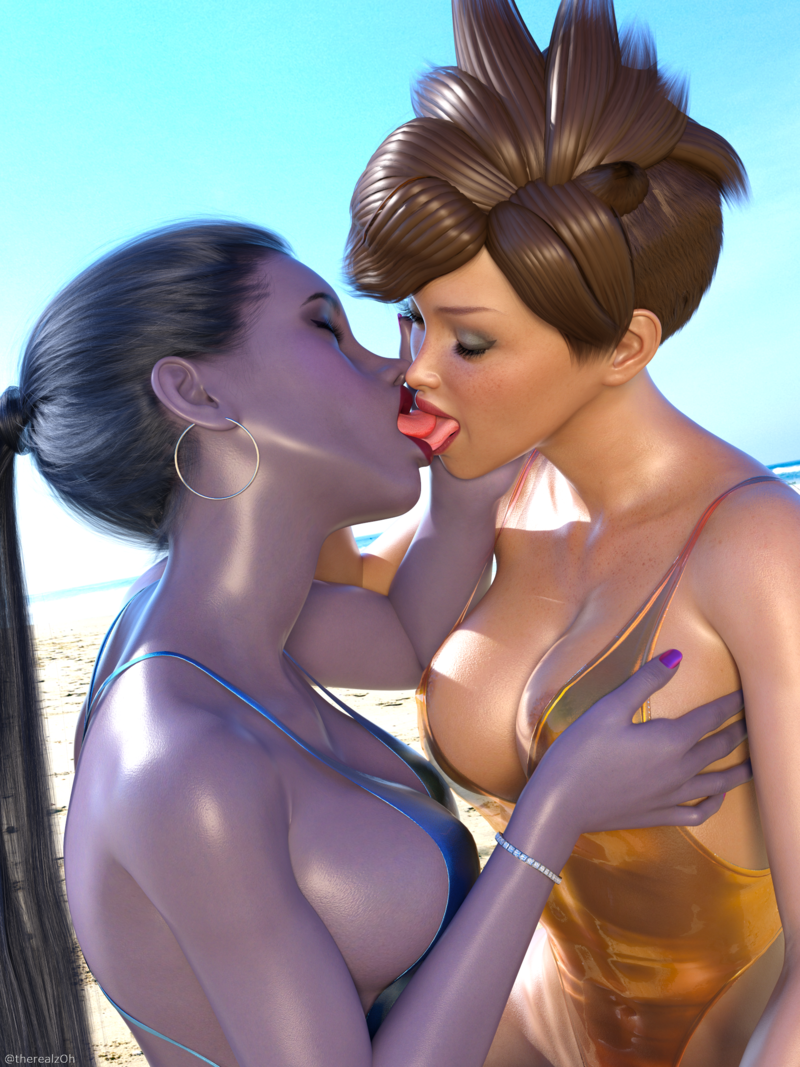 Widowmaker making out with Tracer