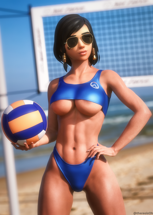 Pharah Bustin' Out the Volleyball