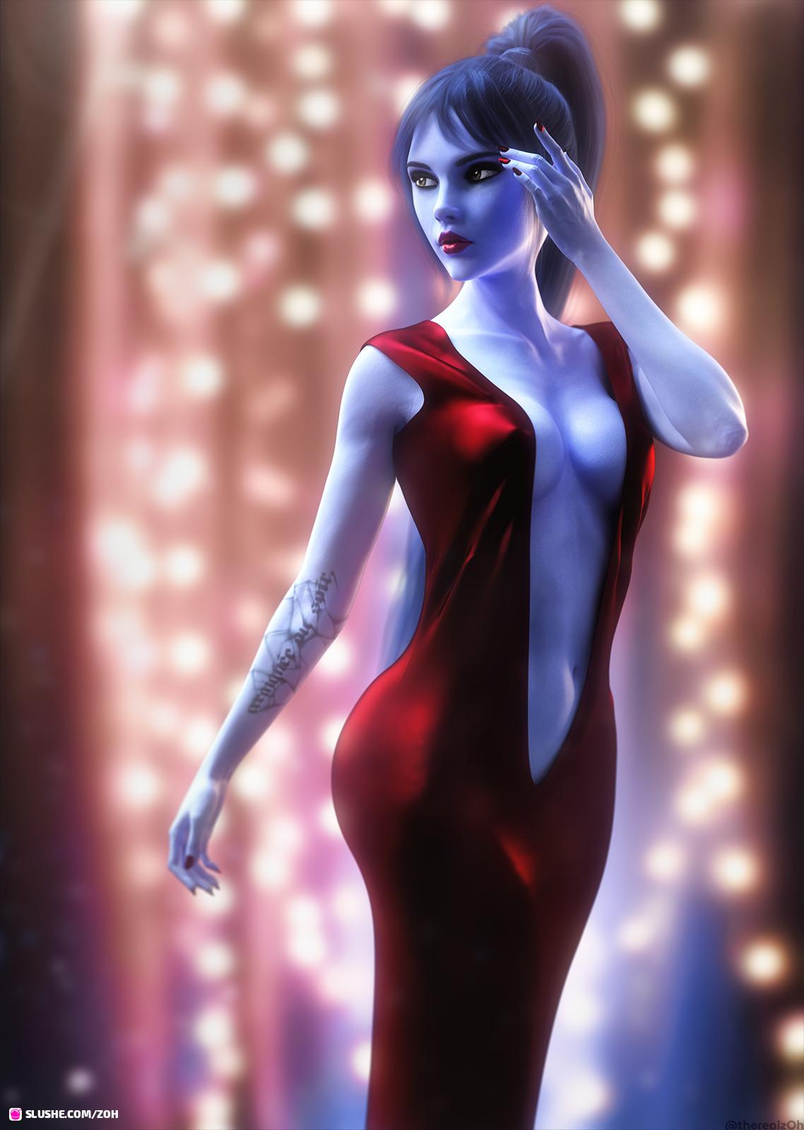 Widowmaker in a Red Dress