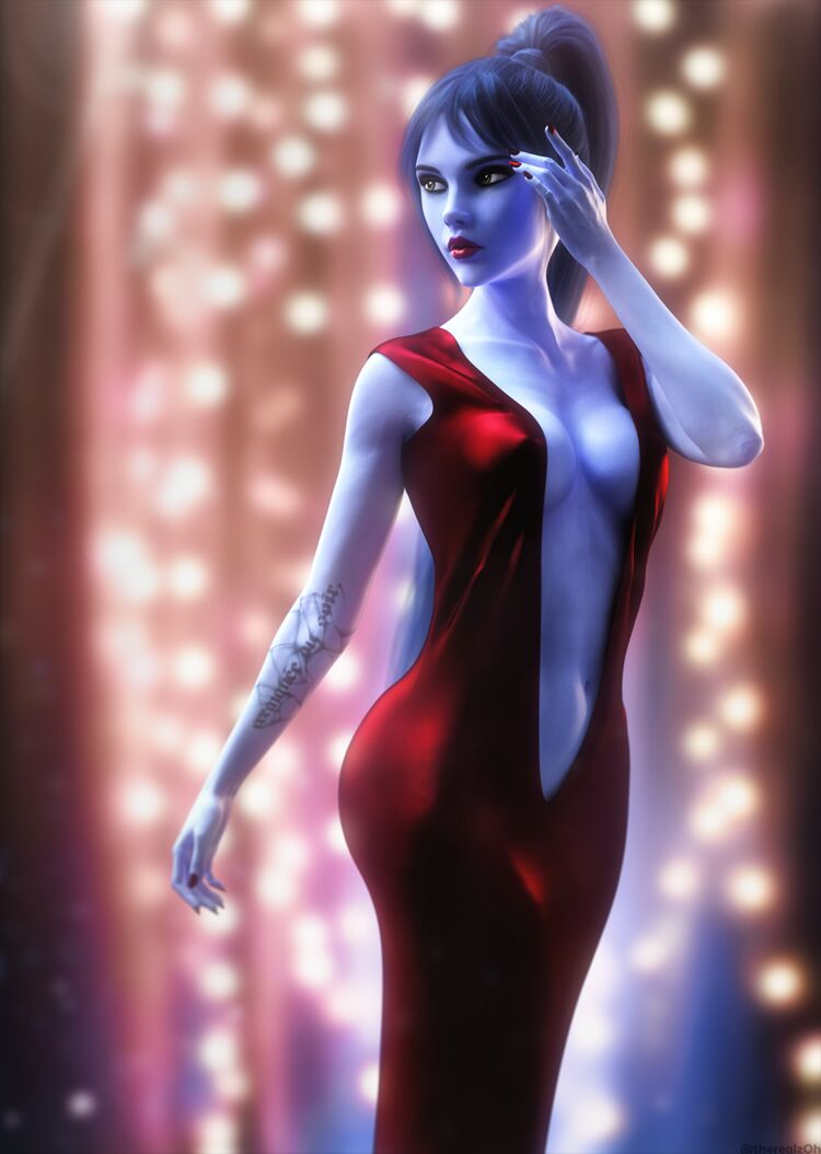 Widowmaker in a Red Dress