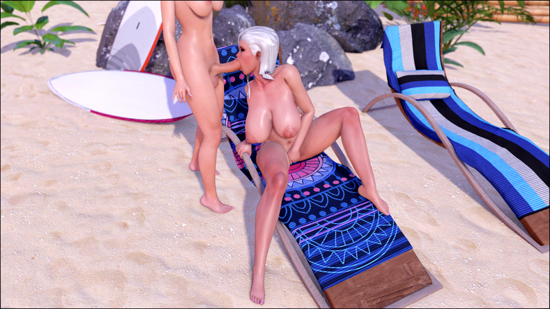Evelyn and Autumn - Beach Bums