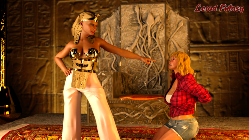 Egyptian queen captures thief SFW