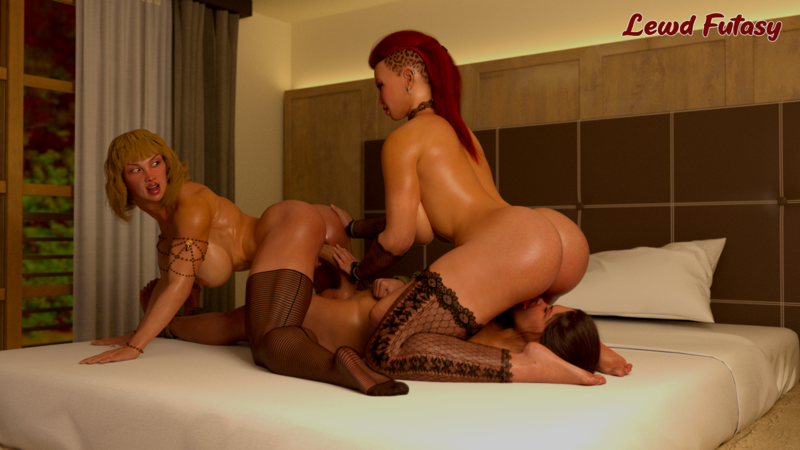 Vanessa gets dominated by Monica and Scarlett