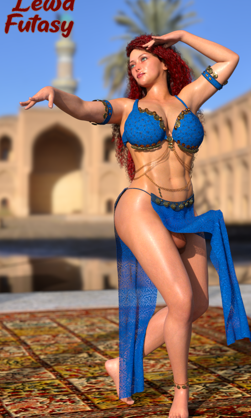 Alexis as belly dancer