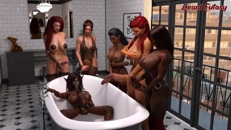 Anzu's cum bath