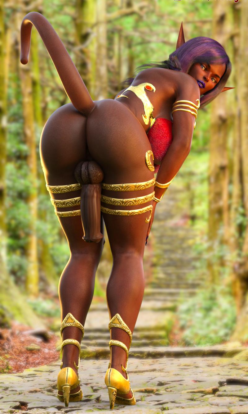 Anzu shows her ass-sets