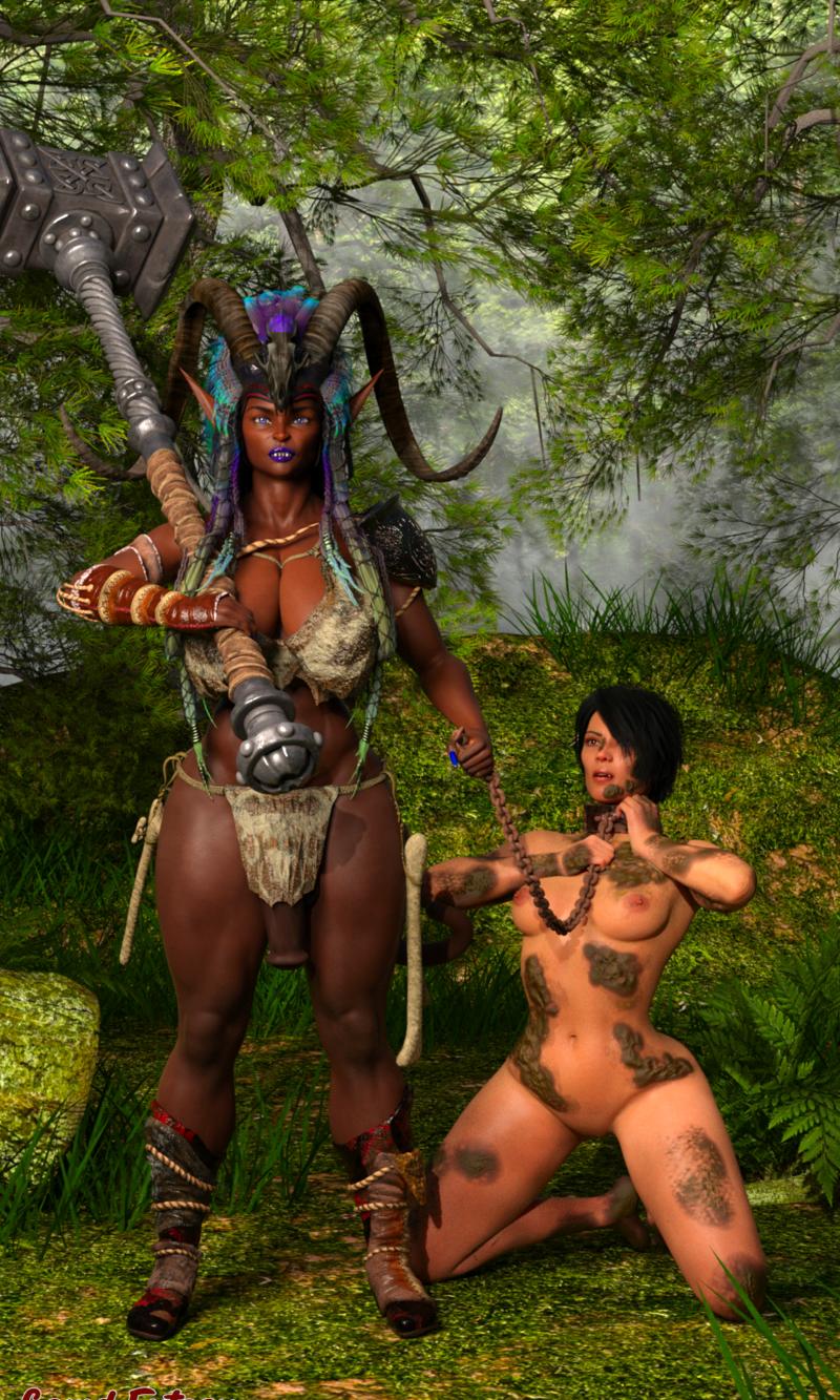 Anzu caught a slave