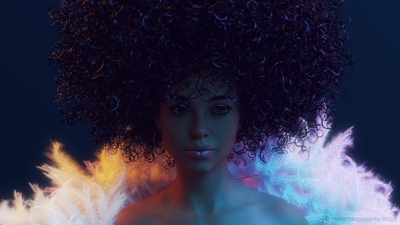 Sparkly Afro