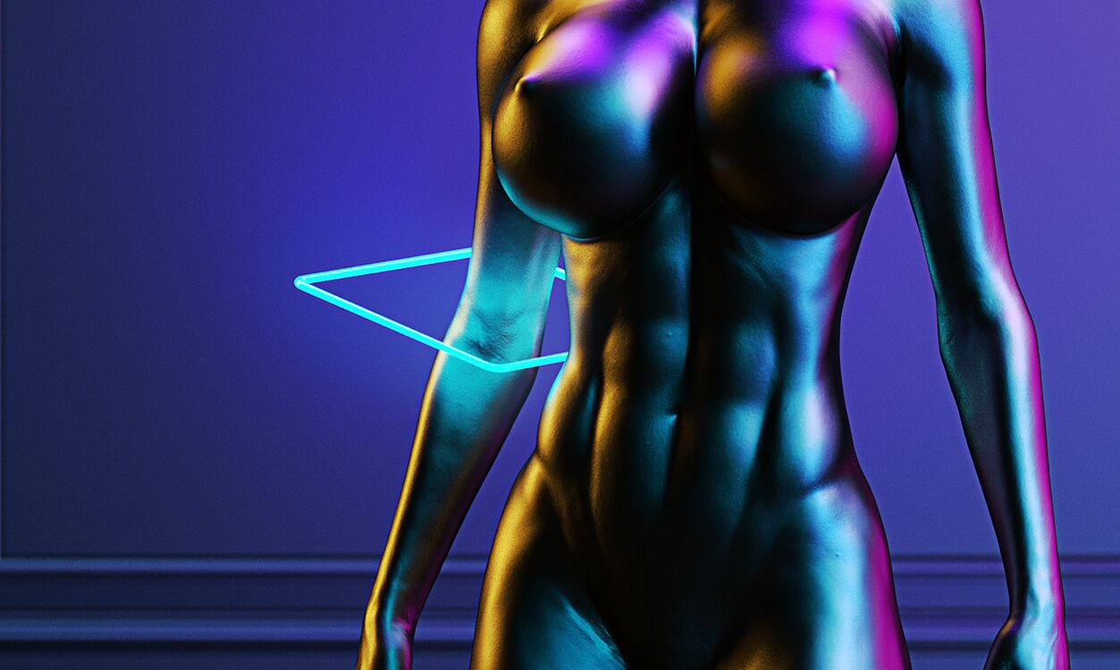 Neon Statue