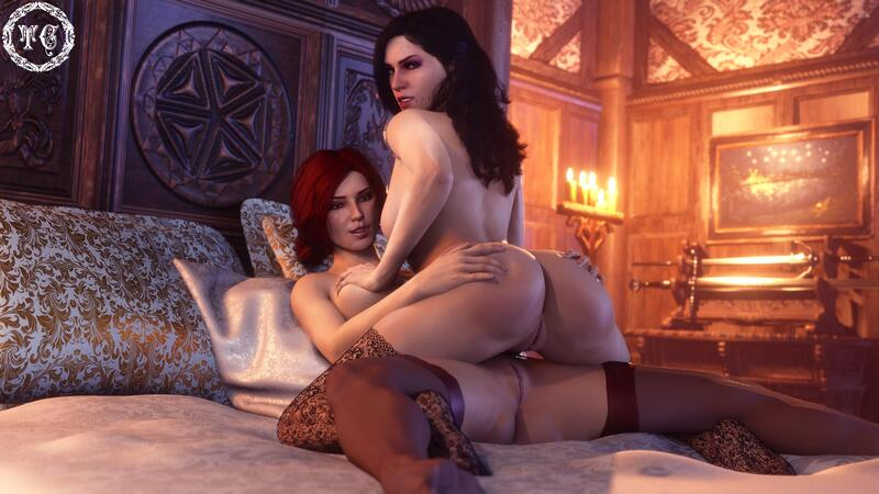 Triss and Yennefer - Fun night