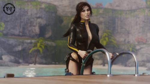 Lara Croft - The Wetsuit