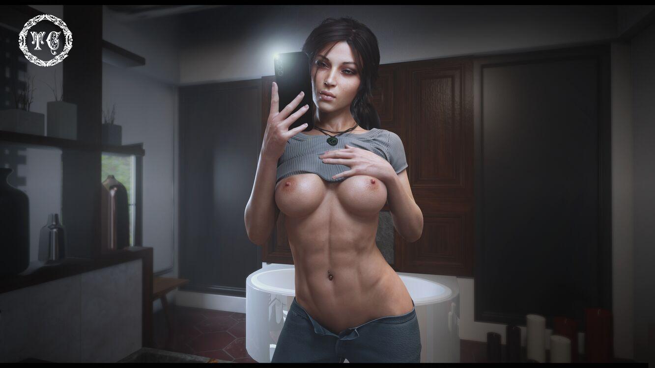 "Lara Croft - Selfie "" my summer body is ready """