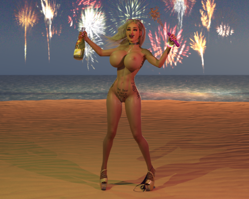 New Year Sex Party On The Beach!
