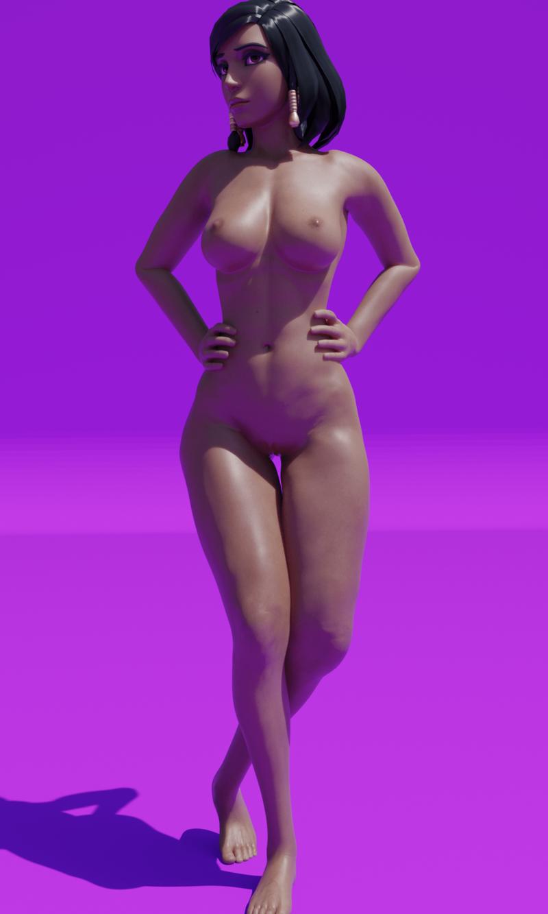 Pharah Nude modeling.