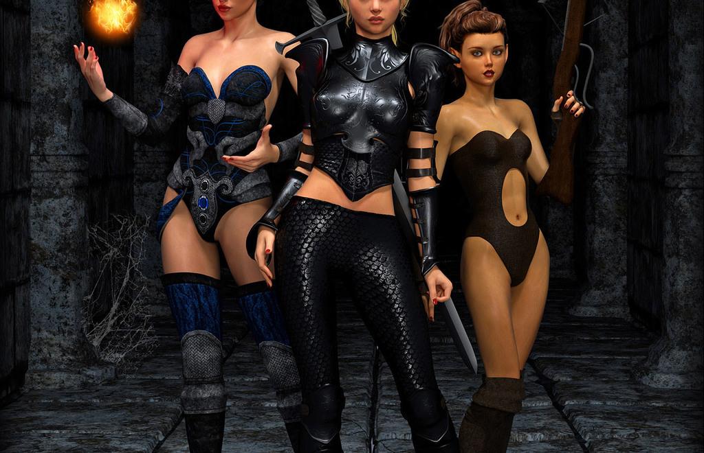 3 girls lineup