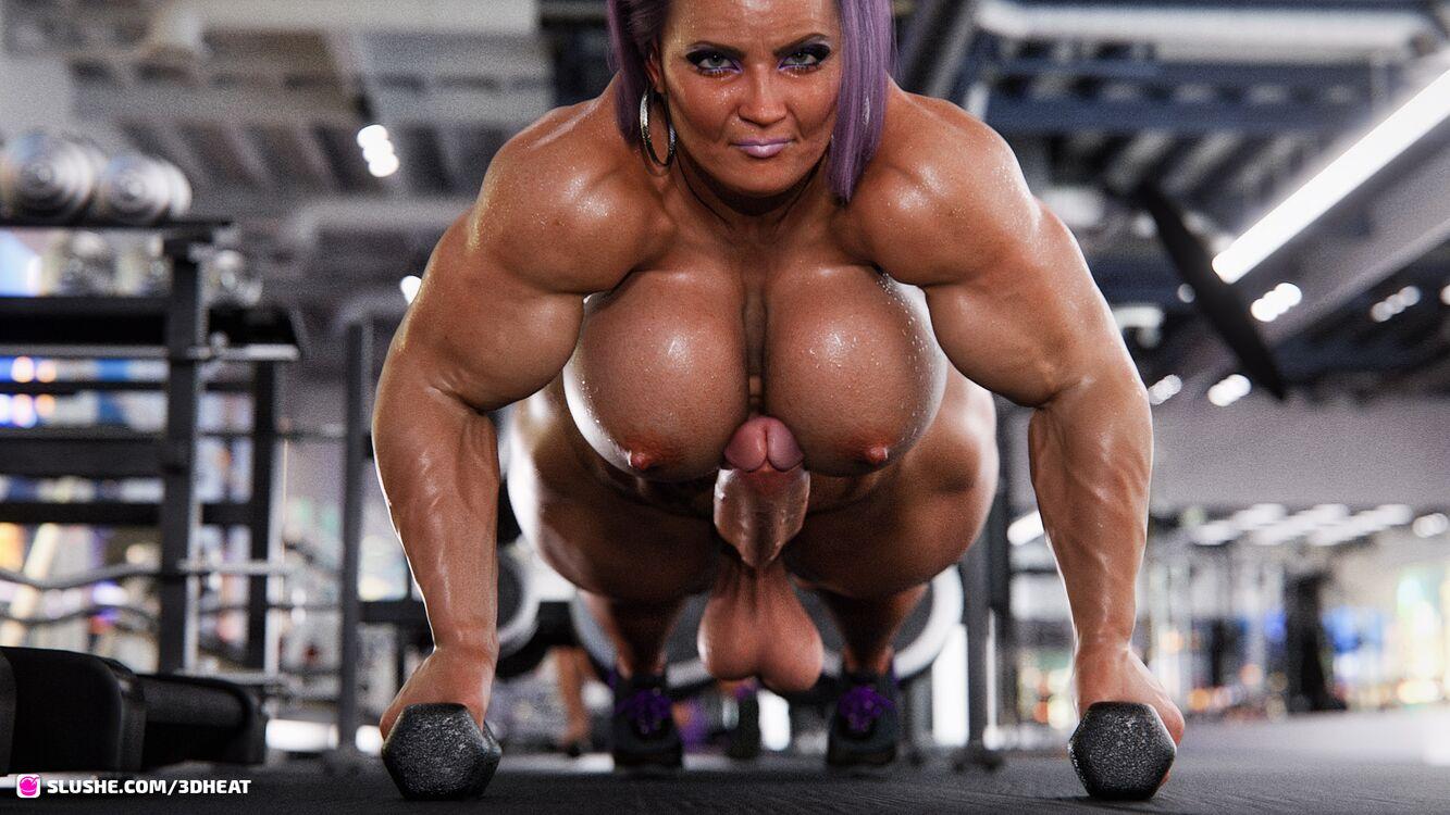 Muscular Futa's Workout