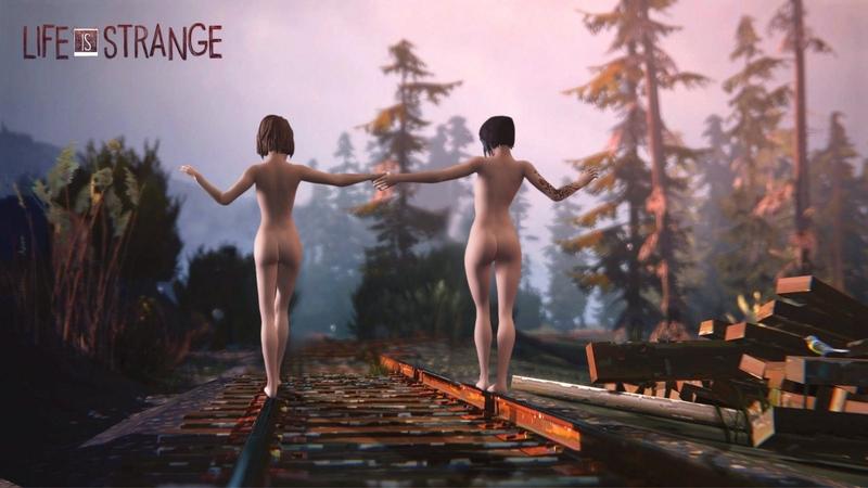 Life is Strange - Nude train track scene.